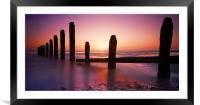 Camber Sands Sunset, Framed Mounted Print