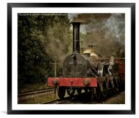 """GWR Broad Gauge """"Firefly"""", Framed Mounted Print"""