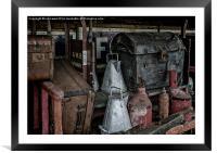 Loaded Station Handcart, Framed Mounted Print