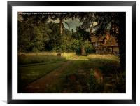 Cottage In The Churchyard, Framed Mounted Print