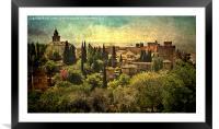 The Alhambra Granada, Framed Mounted Print