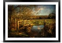 The Path to Sulham , Framed Mounted Print