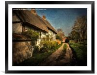 Cottages in Blewbury, Framed Mounted Print