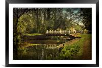 Late Afternoon On The Kennet, Framed Mounted Print