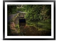 Entrance To The Ashford Tunnel, Framed Mounted Print