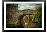 Canal Bridge In Brecon, Framed Mounted Print