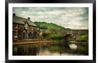 The Canal Basin At Brecon, Framed Mounted Print