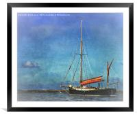 Thames Sailing Barge, Framed Mounted Print