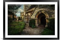 Little Wittenham Church Porch, Framed Mounted Print