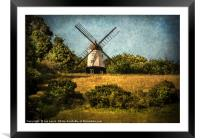 Cobstone Windmill Above Turville, Framed Mounted Print