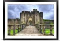 Caerphilly Castle Gatehouse, Framed Mounted Print