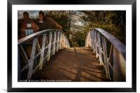 Crossing The Thames At Little Wittenham, Framed Mounted Print