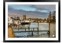 Henley on Thames Riverside, Framed Mounted Print