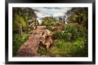 Pathway over Hissey Bridge, Framed Mounted Print
