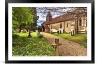 The Church At Tidmarsh in Berkshire, Framed Mounted Print