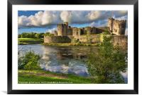 Caerphilly Castle Moat, Framed Mounted Print