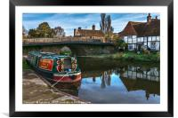 Hungerford Wharf, Framed Mounted Print