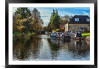 Hungerford Town Wharf And Lock, Framed Mounted Print