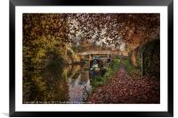 Autumnal Towpath, Framed Mounted Print
