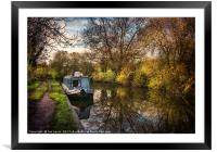 An Autumn Afternoon At Hungerford, Framed Mounted Print