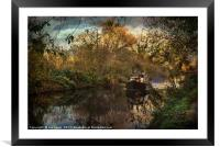 Narrowboat On The Kennet And Avon, Framed Mounted Print