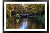 Activity At Heale's Lock, Framed Mounted Print