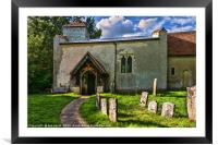St Nicholas Church Ibstone, Framed Mounted Print