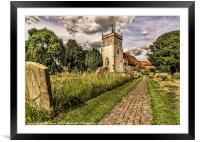 Bucklebury Parish Church Berkshire, Framed Mounted Print