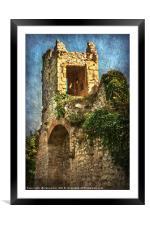 Turret at Wallingford Castle, Framed Mounted Print