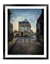 The Town Hall At Abingdon, Framed Mounted Print