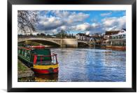 Caversham Bridge in Reading, Framed Mounted Print