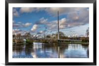 Footbridge Over The Thames At Reading, Framed Mounted Print