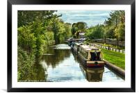 The Oxford Canal At Thrupp, Framed Mounted Print