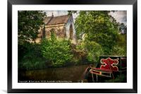 Church By The Oxford Canal, Framed Mounted Print