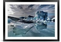 Dramatic Iceberg, Framed Mounted Print