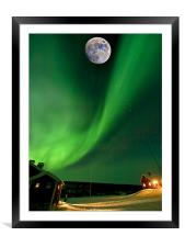 Thors Contrails, Framed Mounted Print
