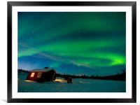 Swirling Aurora, Framed Mounted Print