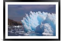Iceberg Cierva Cove Antarctica, Framed Mounted Print