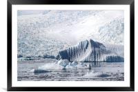 Cierva Cove Iceberg & Glaciers, Framed Mounted Print