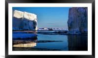 Tabular Icebergs, Cape Roget, Antarctica, Framed Mounted Print