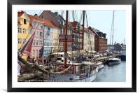 Nyhavn Copenhagen Denmark, Framed Mounted Print