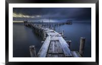 Carrasqueira Pier, Framed Mounted Print