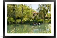Landscape along the Poitevin Marsh , Framed Mounted Print