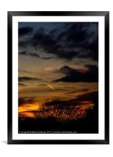 Autumn Evening, Framed Mounted Print