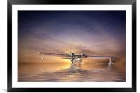PBY Catalina take off, Framed Mounted Print