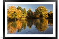 Autumn Reflections, Framed Mounted Print