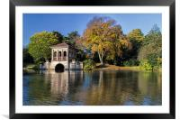 Early Morn on the roman Boathouse, Framed Mounted Print