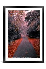 Into the Autumn Mist, Framed Mounted Print