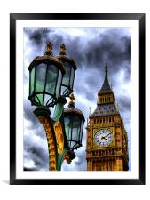 Big Ben And Lamp, Framed Mounted Print