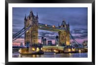 Tower Bridge And The City, Framed Mounted Print